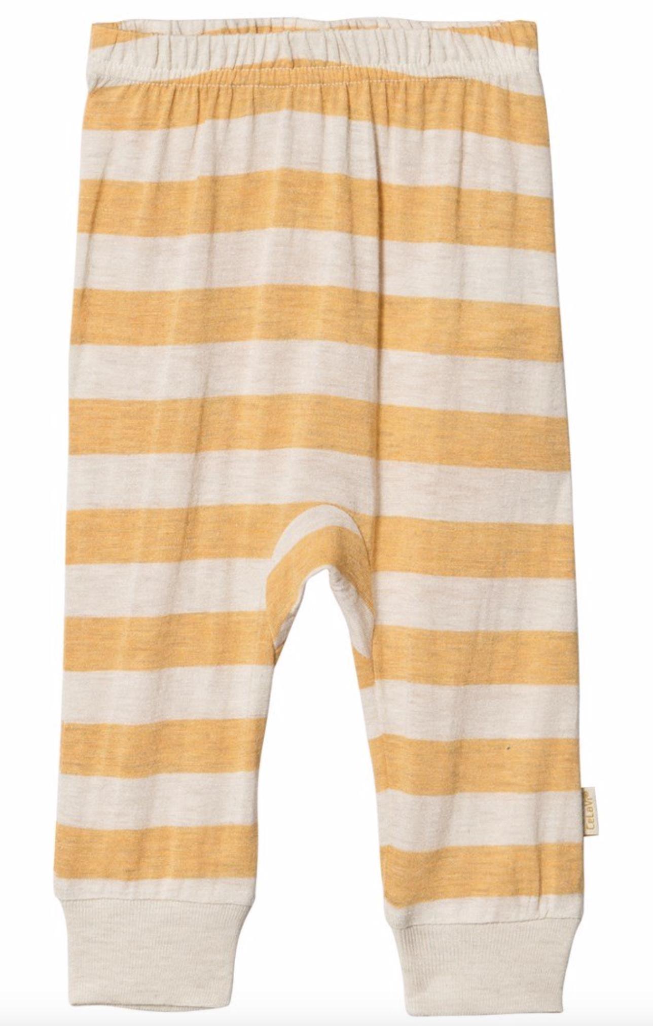 bukse bambusull striper mineral yellow Epleskrinet